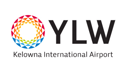 Kelowna International Airport logo reading YLW on a transparent background.